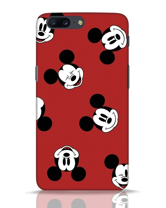 Shop Mickey Pattern OnePlus 5 Mobile Cover-Front