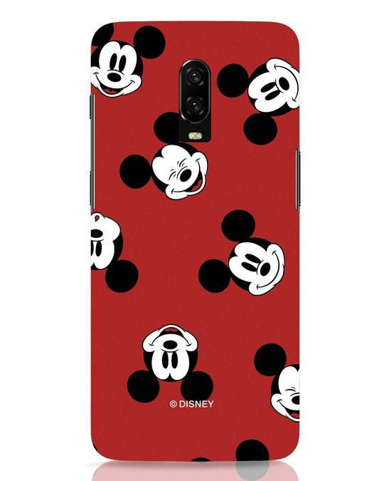 Shop Mickey Pattern OnePlus 6T Mobile Cover-Front