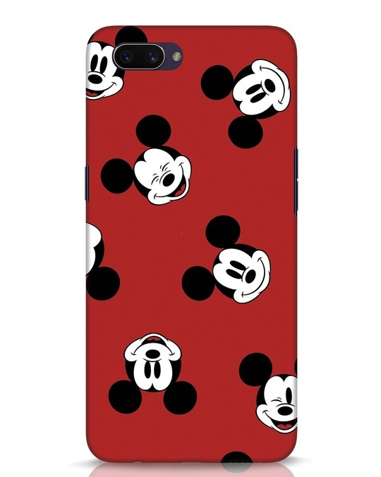 Shop Mickey Pattern Oppo A3S Mobile Cover-Front