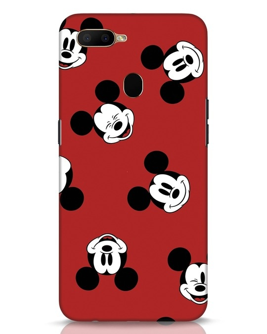 Shop Mickey Pattern Oppo A5s Mobile Cover-Front