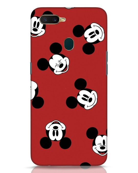 Shop Mickey Pattern Oppo A7 Mobile Cover-Front