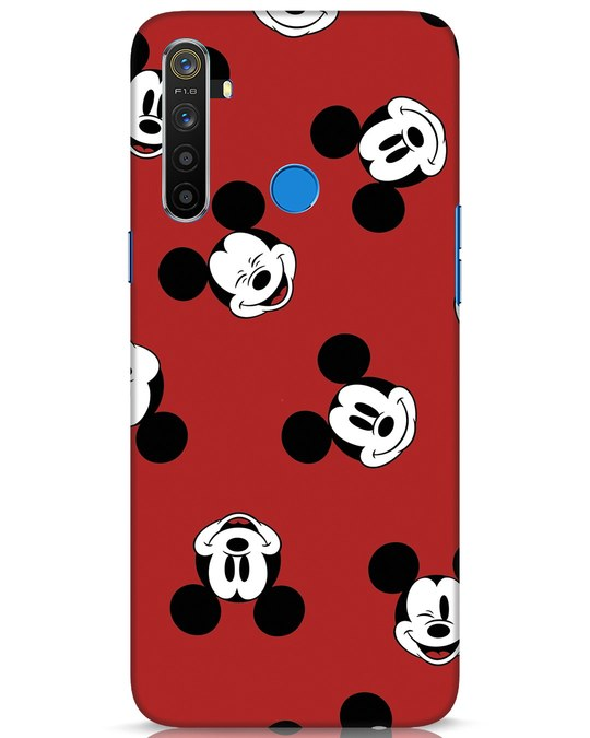 Shop Mickey Pattern Realme 5 Mobile Cover-Front