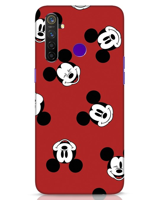 Shop Mickey Pattern Realme 5 Pro Mobile Cover-Front