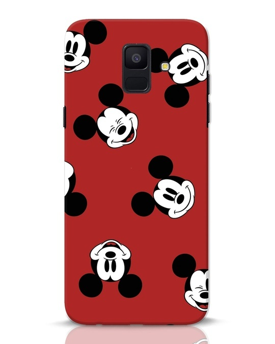 Shop Mickey Pattern Samsung Galaxy A6 2018 Mobile Cover-Front