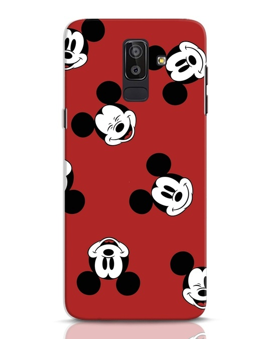 Shop Mickey Pattern Samsung Galaxy J8 Mobile Cover-Front