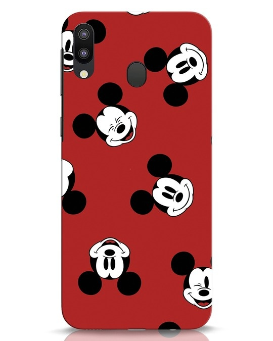 Shop Mickey Pattern Samsung Galaxy M20 Mobile Cover-Front