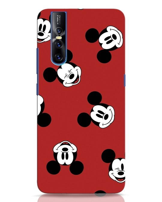 Shop Mickey Pattern Vivo V15 Pro Mobile Cover-Front