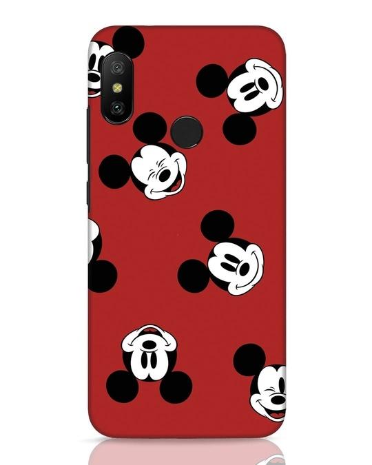 Shop Mickey Pattern Xiaomi Redmi 6 Pro Mobile Cover-Front