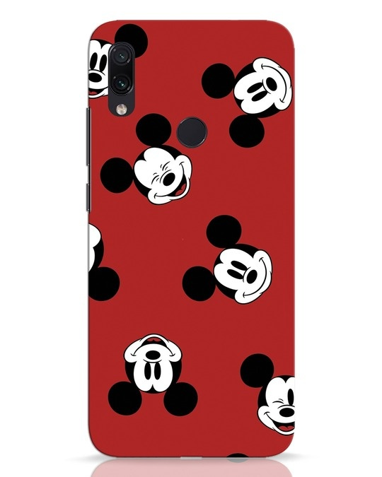 Shop Mickey Pattern Xiaomi Redmi Note 7 Pro Mobile Cover-Front