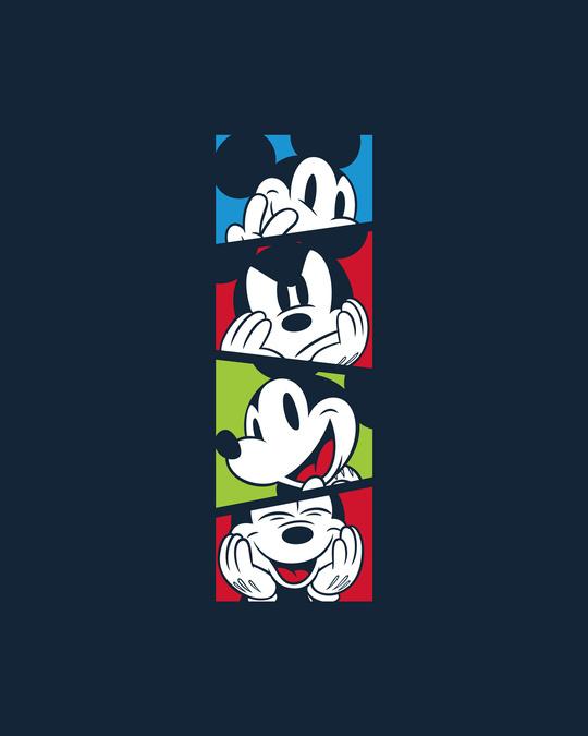 Shop Mickey Pop Block Full Sleeve T-Shirt (DL) Navy Blue-Full