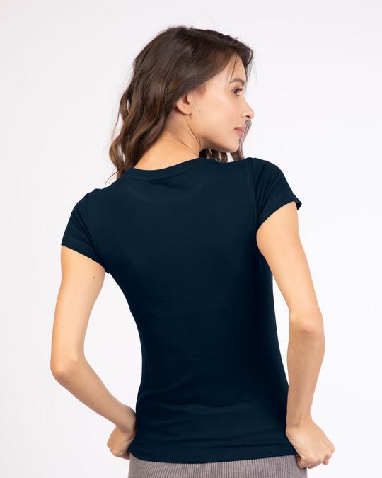 Shop Mickey Pop Block Half Sleeve Printed T-Shirt (DL) Navy Blue-Back