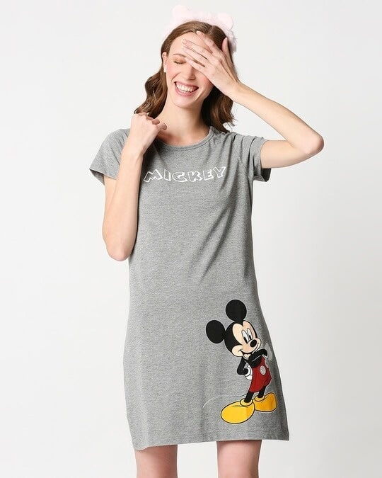 Shop Mickey Printed Night T-shirt Dress-Front