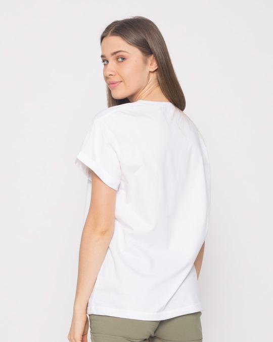Shop Mickey Says Hi Boyfriend T-Shirt (DL)-Full