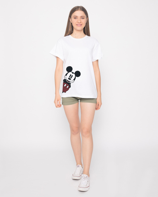 Shop Mickey Says Hi Boyfriend T-Shirt (DL)
