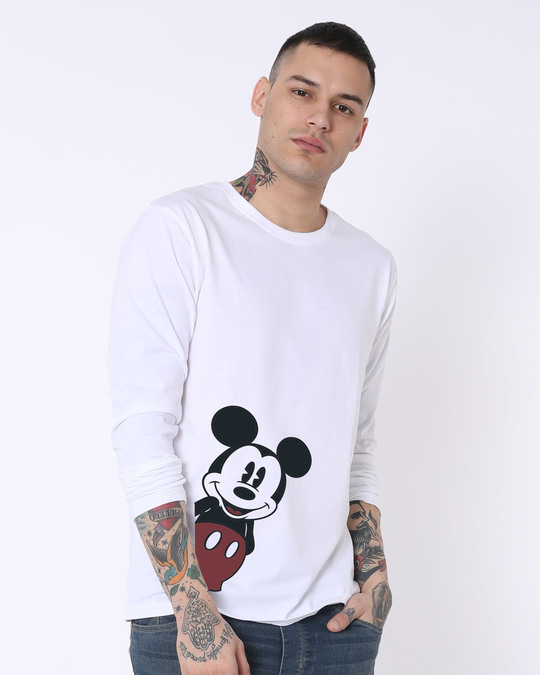 Shop Mickey Says Hi Full Sleeve T-Shirt (DL)-Back