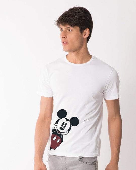 Shop Mickey Says Hi Half Sleeve T-Shirt (DL)-Design