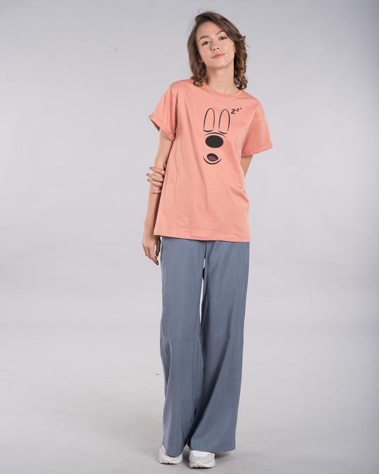 Shop Mickey Sleepy Boyfriend T-Shirt (DL)-Design