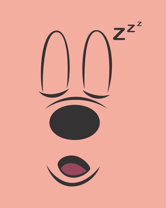 Shop Mickey Sleepy Boyfriend T-Shirt (DL)-Full