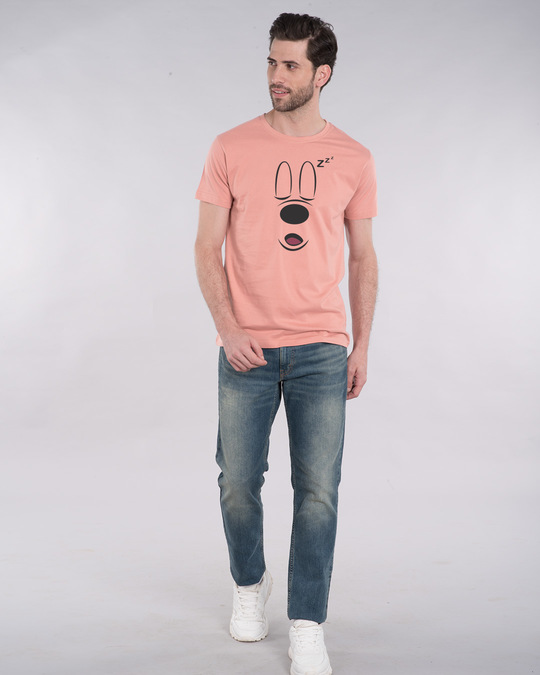 Shop Mickey Sleepy Half Sleeve T-Shirt (DL)-Full