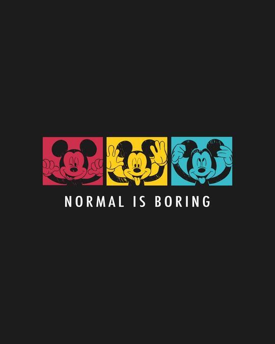 Shop Mickey Strip Color Crewneck Varsity Rib H/S T-Shirt (DL) Multicolor-Full