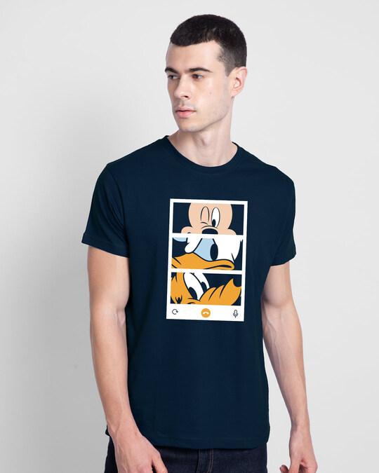 Shop Mickey Trio Call Half Sleeve T-Shirt (DL)-Back