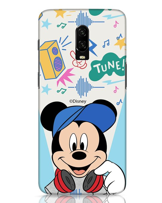 Shop Mickey Tune OnePlus 6T Mobile Cover (DL)-Front