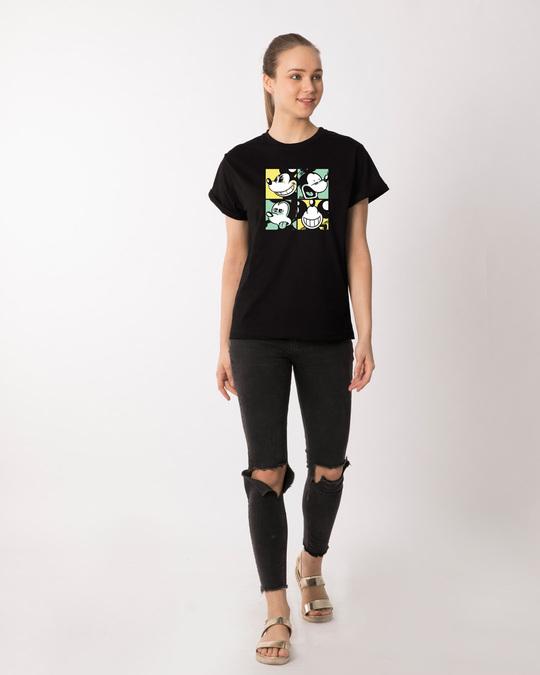 Shop Mickey Window Mood Boyfriend T-Shirt (DL)-Design