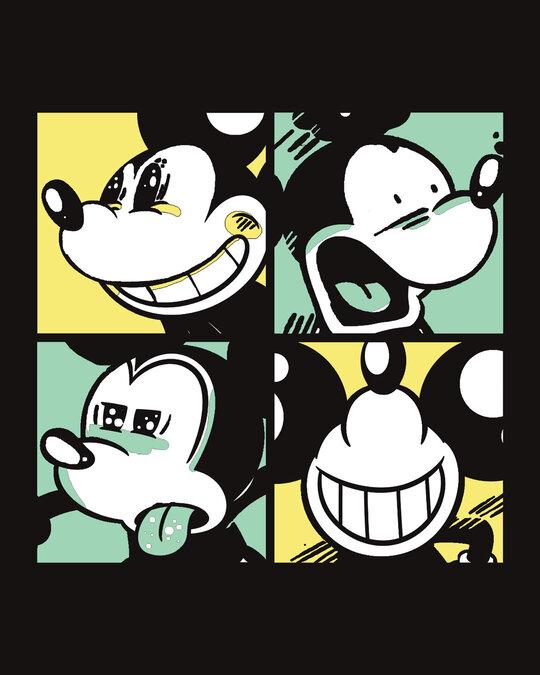 Shop Mickey Window Mood Boyfriend T-Shirt (DL)-Full