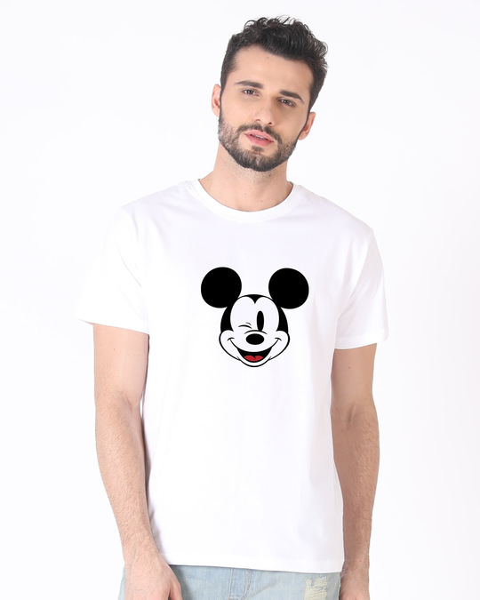 Shop Mickey Wink Half Sleeve T-Shirt-Back