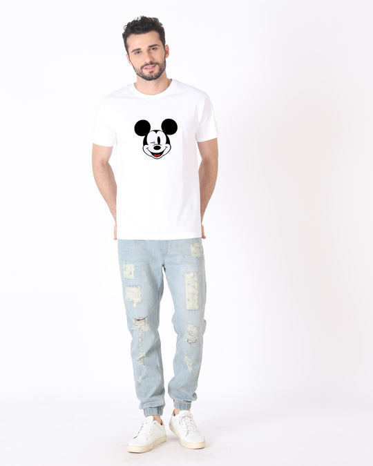 Shop Mickey Wink Half Sleeve T-Shirt