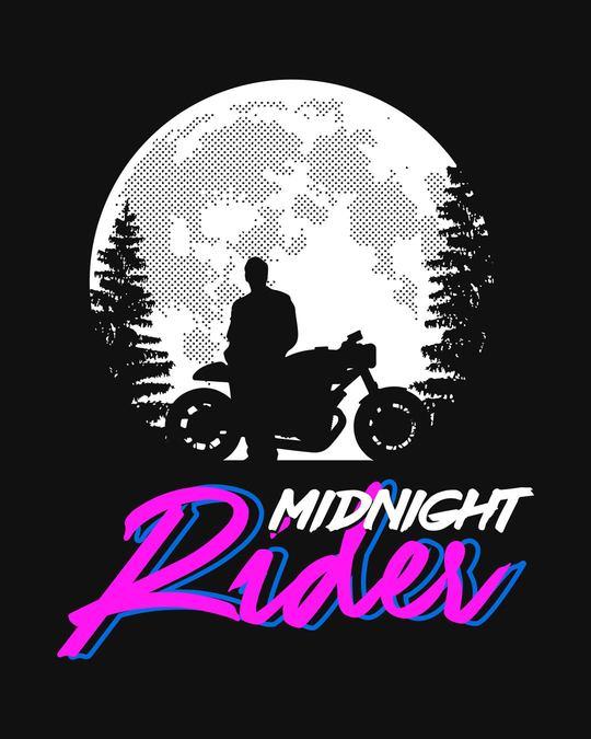 Shop Midnight Rider Half Sleeve T-Shirt-Full