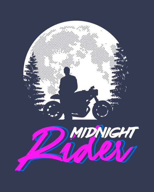 Shop Midnight Rider Half Sleeve T-Shirt-Full