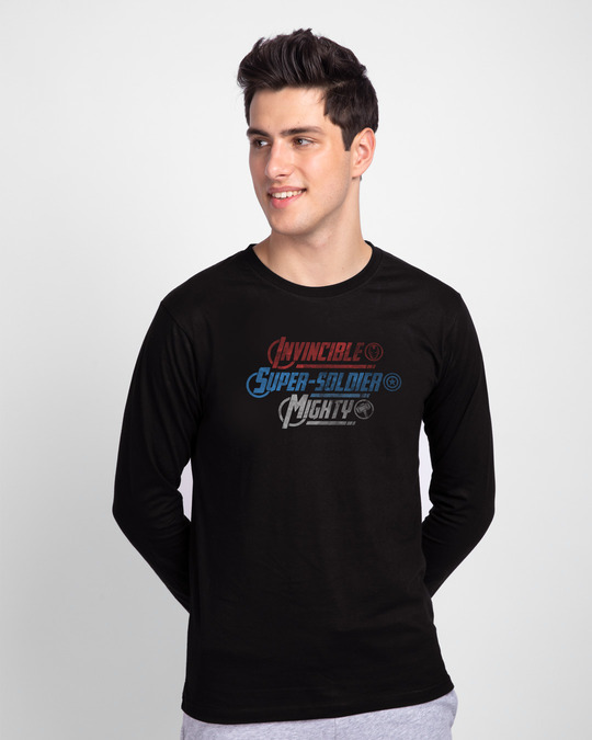 Shop mighty power Full Sleeve T-Shirt-Front