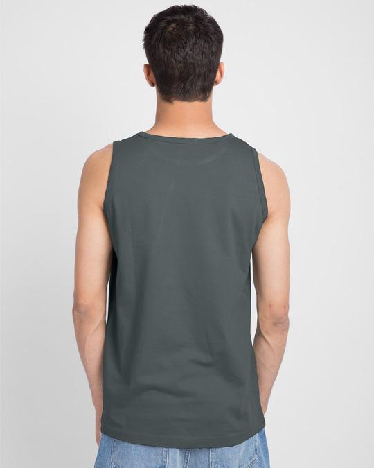 Shop Milestone Round Neck Vest Nimbus Grey-Back