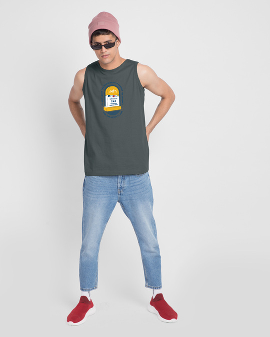 Shop Milestone Round Neck Vest Nimbus Grey-Design