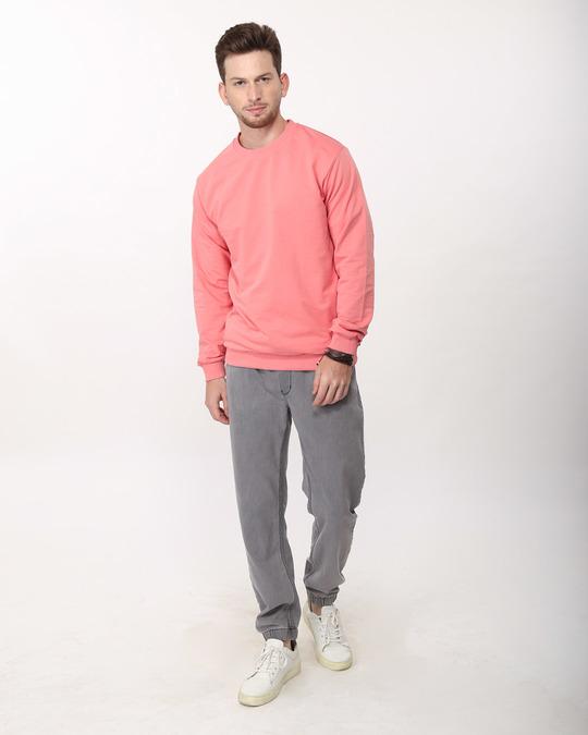 Shop Millennial Pink Crew Neck Sweatshirt