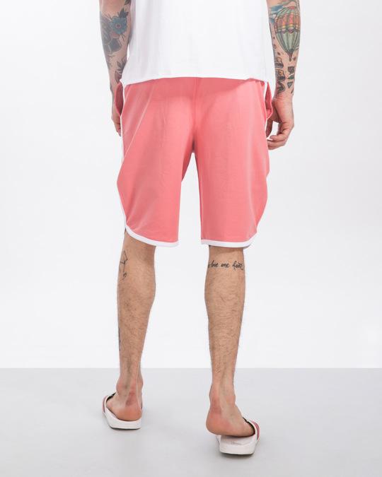 Shop Millennial Pink-White Runner Fleece Shorts-Design