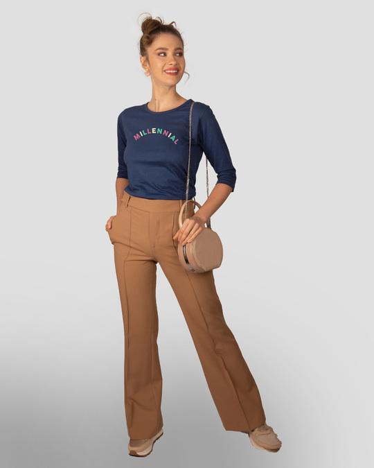 Shop Millennial Round Neck 3/4th Sleeve T-Shirt-Design