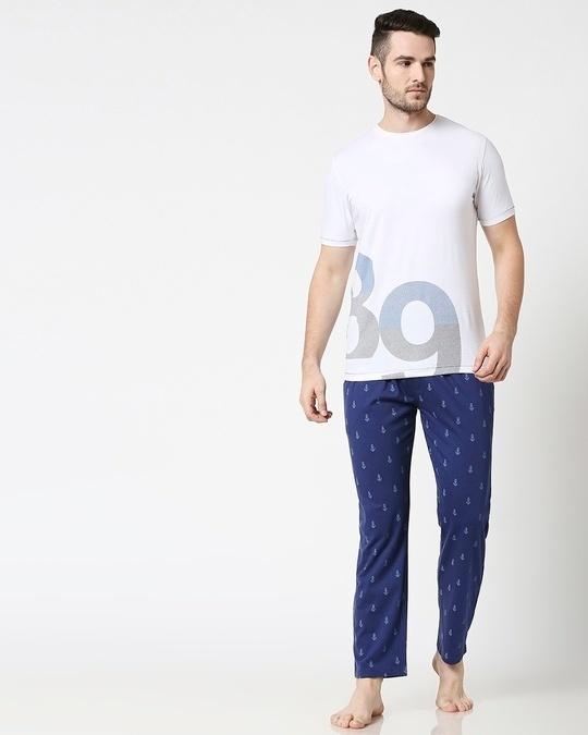 Shop Minimal Anchor AOP Pyjama-Full