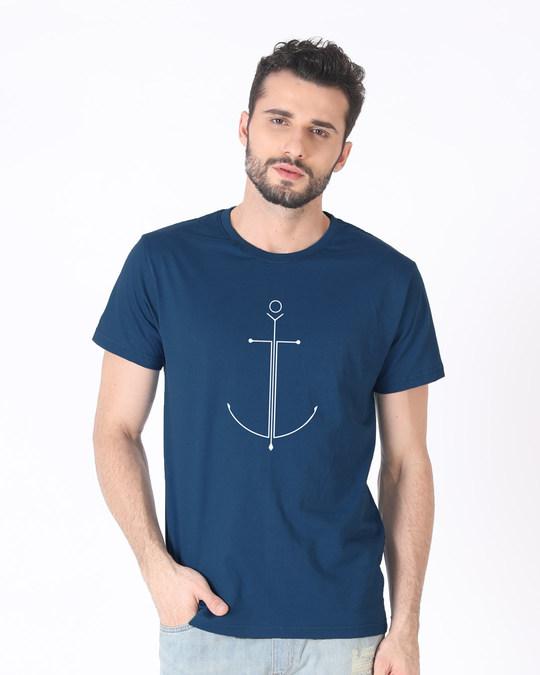 Shop Minimal Anchor Half Sleeve T-Shirt-Back