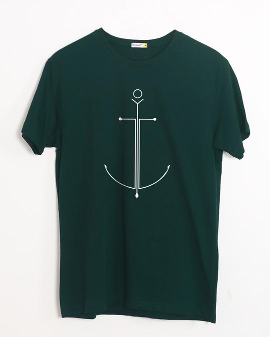 Shop Minimal Anchor Half Sleeve T-Shirt-Front