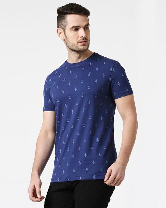 Shop Minimal Anchor Half Sleeves AOP T-Shirt-Design