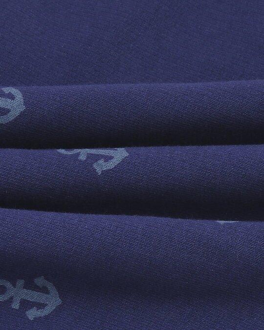 Shop Minimal Anchor Half Sleeves AOP T-Shirt