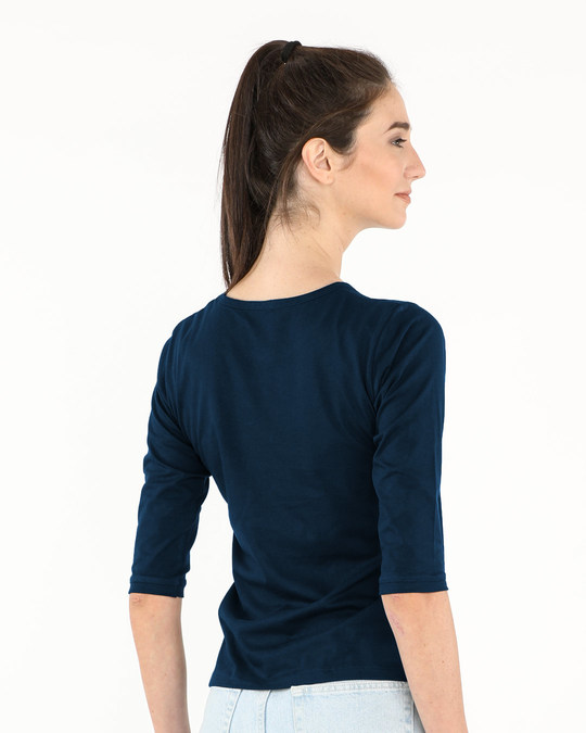 Shop Minimal Anchor Round Neck 3/4th Sleeve T-Shirt-Full