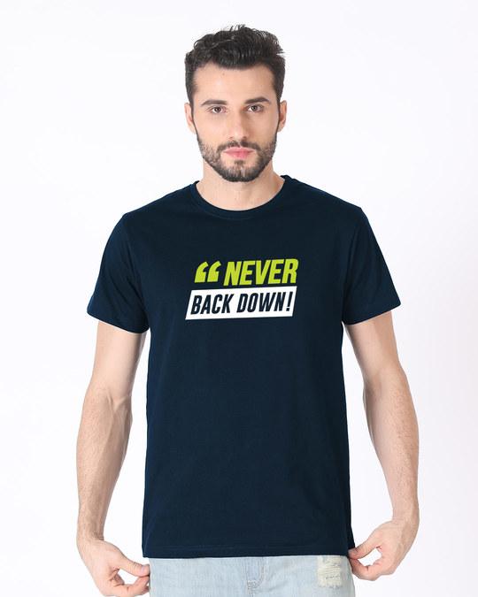 Shop Minimal Back Down Half Sleeve T-Shirt-Back