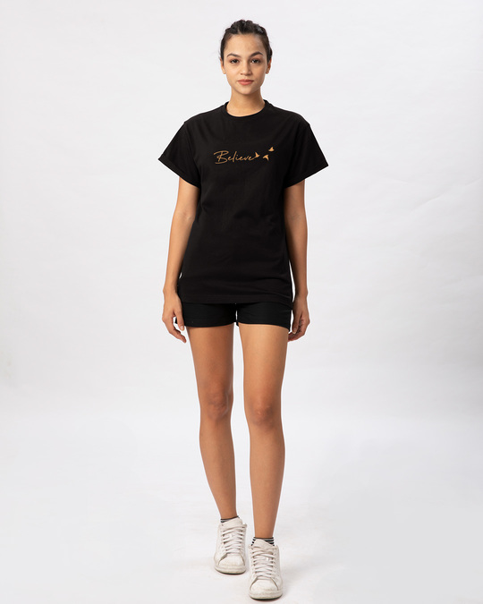Shop Minimal Believe Boyfriend T-Shirt