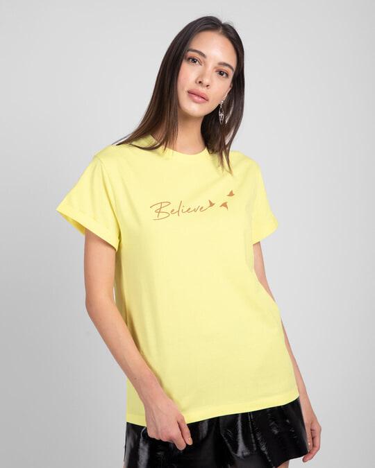 Shop Minimal Believe Boyfriend T-Shirts-Back