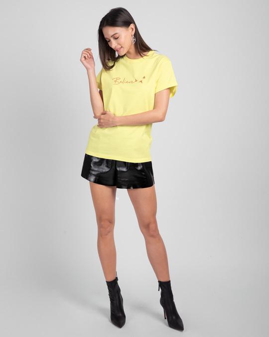 Shop Minimal Believe Boyfriend T-Shirts-Full