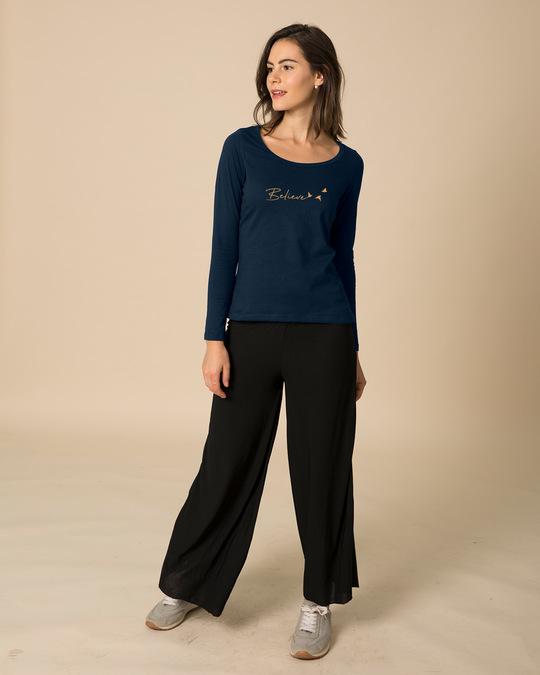 62236e80 Buy Minimal believe Printed Full Sleeve T-Shirt For Women Online ...