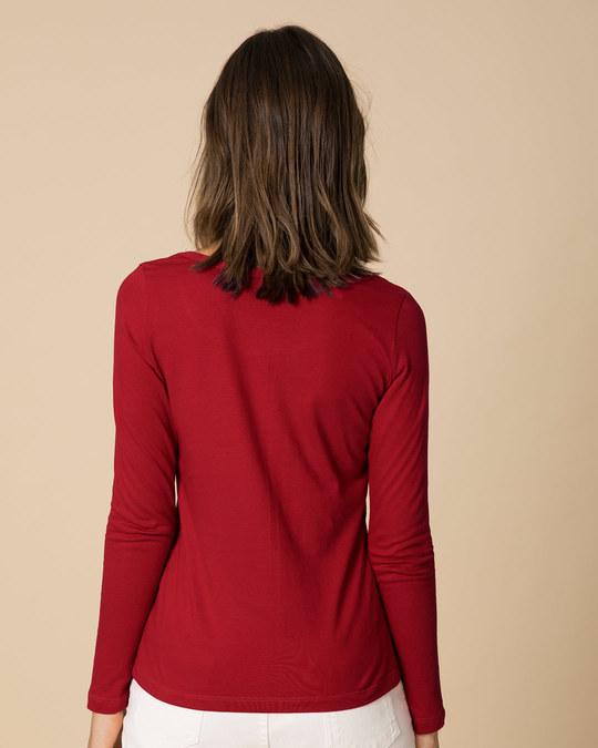 Shop Minimal Believe Scoop Neck Full Sleeve T-Shirt-Back